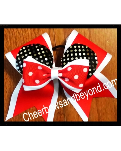 Minnie Ear 2 Layer Cheer Bow *Several Colors & Personalize Option*