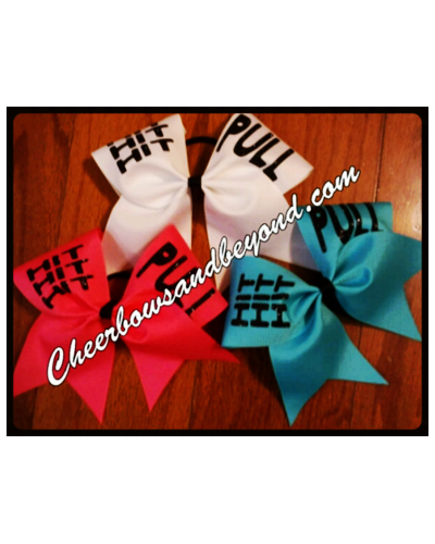 Hit Hit Hit Pull Cheer Bow* Several Color Options*