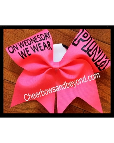 On Wednesday We Wear Pink Cheer Bow