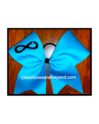 Infinity Solid Cheer Bow*Custom Design & Option for name *