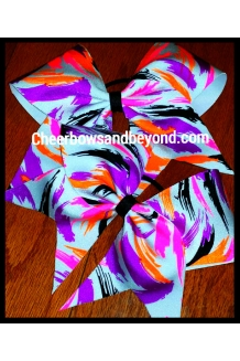 Neon Splatter Cheer/Dance Bow