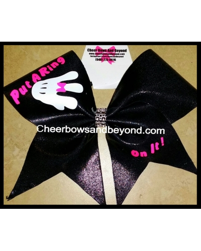 Put A Ring On It Cheer Bow