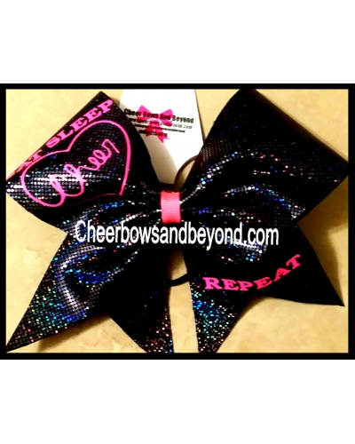 Eat Sleep Cheer Repeat Cheer Bow*Several Color Options*