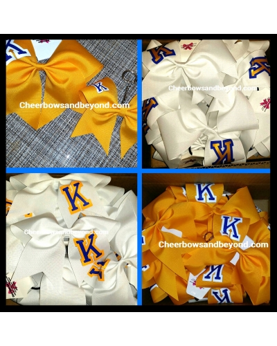 Solid Team Letter Cheer & Dance Bow*Several Color Options*