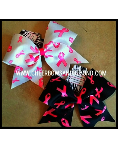 Mystique Breast Cancer Awareness Cheer Bows*Personalize Option*