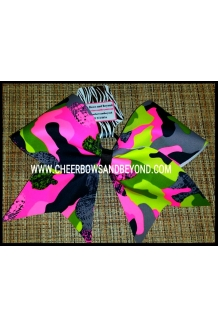 Mystique Camo Cheer Bows 3 C..