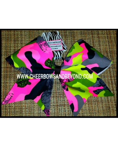 Mystique Camo Cheer Bows 3 Colors/Styles Available