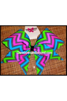 Neon Pastel Chevron Cheer an..