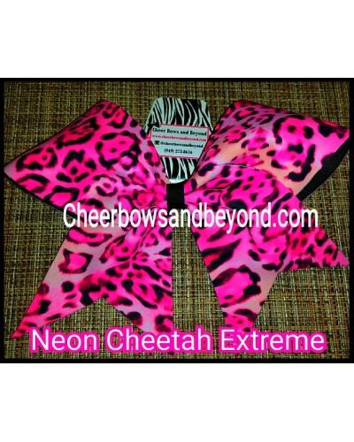 Neon Cheetah Extreme Cheer & Dance Bow