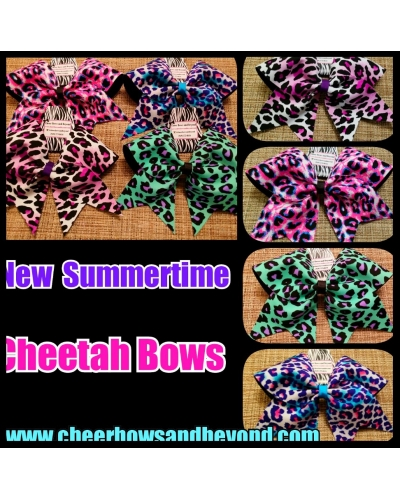 NEW Summertime Cheetah Bows*Several Colors*