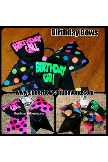 Birthday Cheer & Dance Bow*A..