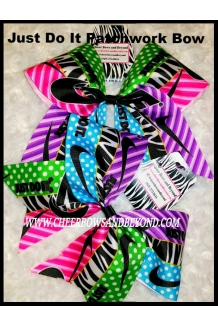 Just Do It Patchwork Cheer Bow