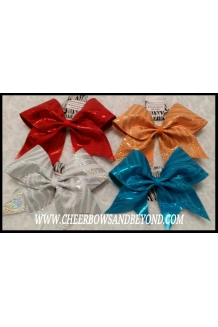 Holographic Zebra Cheer Bows..