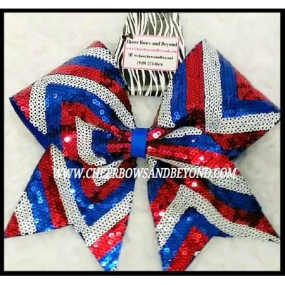 Chevron USA Sequin..