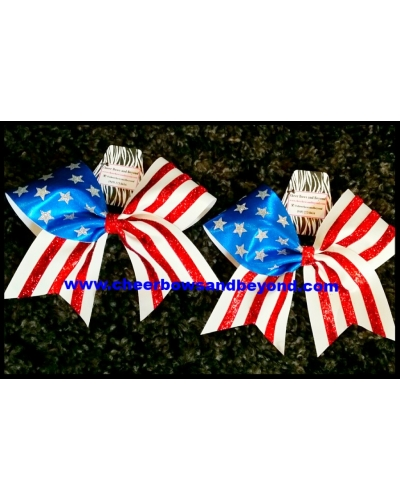 All American Flag Supreme Cheer Bows