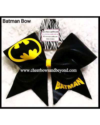 Superman Bow Or Batman Cheer Bow