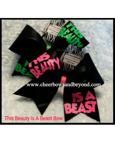 This Beauty Is A Beast Cheer/Dance Bow