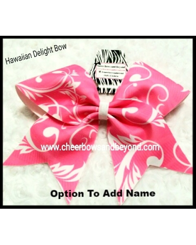 Hawaiian Delight Cheer & Dance Bow*Option to add name*
