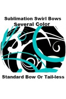 Sublimation Swirl Bows Cheer..