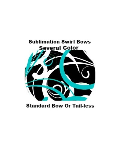Sublimation Swirl Bows Cheer Bow Or Tail-less style Several Colors