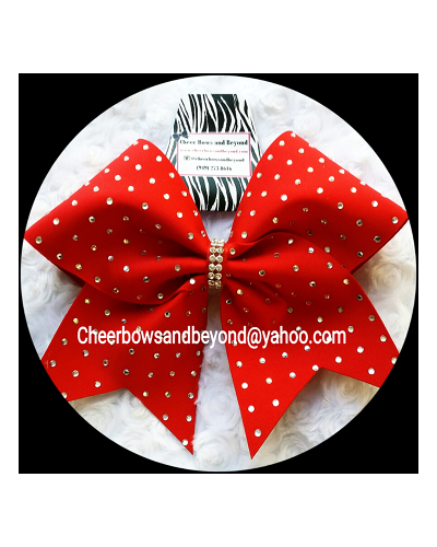 Rhinestone Original Cheer Bows Or Tail-less Bow Customize