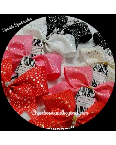 Sparkle Spectacular Cheer Bow Personalize Option