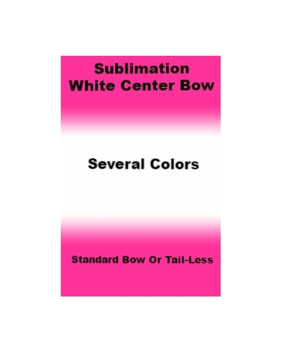 Sublimation White Center Cheer Bows/Tail-less Bows *Several Color*
