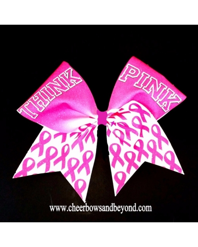 Think Pink Sublimation Cheer Bow*Several Options*