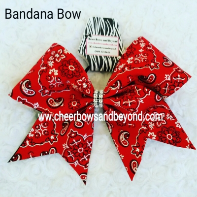 Bandanna Cheer Bow..
