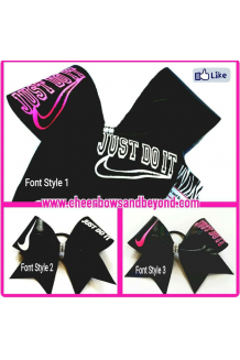 Just Do It Cheer Bow *C..