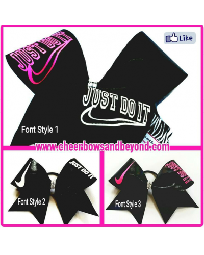 Just Do It Cheer Bow *Customize*