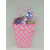 Pink Polka Dot Sweet Box