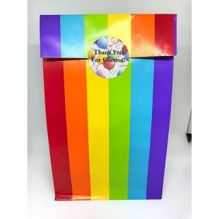 Rainbow Paper Party Bags