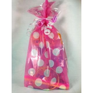 Girls Pink Polka Dot Fi..
