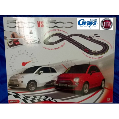 Fiat 500 vs 500 Slot Racing Car Set | Fiat Racing Set | 50906737 | Fiat Toy