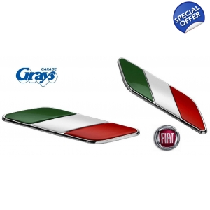 Fiat Italian Badge Set