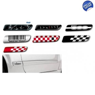 Fiat Side Moulding Badge Set | Badge Set for Fiat 500 Side Moulding Set