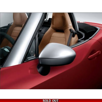 Fiat 124 Spider Silver Mirror Caps | 124 Spider Mirror Covers | 71807602