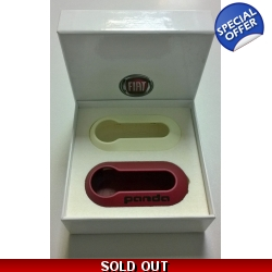 Fiat Panda Key Cover Set 'Glow & Red' | Fits Oth..
