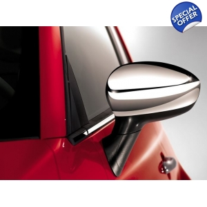 Chrome Mirror Cover Set Fiat..