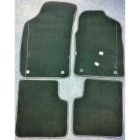 Fiat 500 Carpet Mat Set Black Edge & Black 500 l..