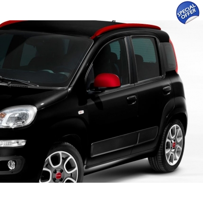 Red Mirror Cover Set Fiat Panda | 735551002