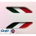 Fiat Italian Badge Set | Fiat 500 Badges | Fiat Badge Set | Fiat Wing Badges | 50901681