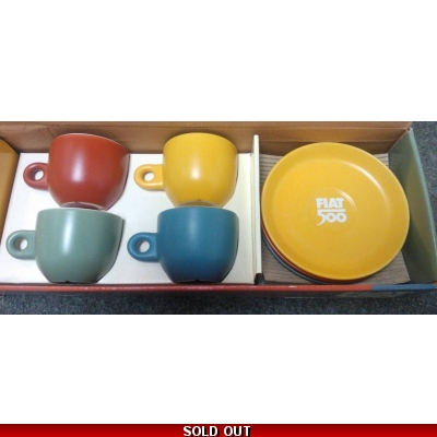 Fiat 500 Coffee Cup Set | Classic Fiat 500 Coffee Cup Set | 46004888 | Fiat Gifts
