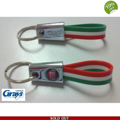 Fiat 500 Keyring | Italian Flag Colours | 46004500