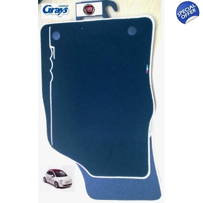 Fiat 500 Carpet Mat Set Ivory Edge | Fiat 500 ma..