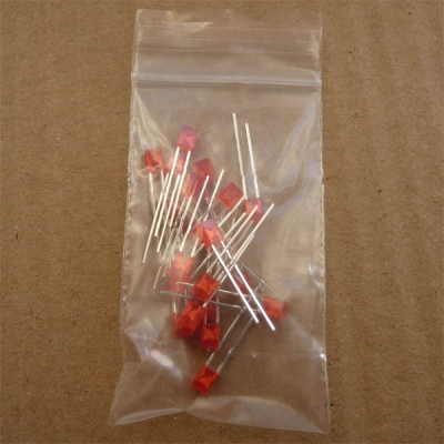 LED 2X3x4mm RED - Pack of 20 COPY