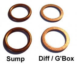 Sump, Differential and Gearbox Drain Washers FOUR