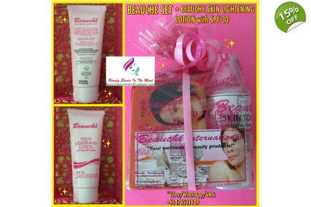 1 BEAUCHE SET + 1 BEAUCHE SKIN LIGHTENING LOTION WITH GLUTATHIONE/SPF30 100ml