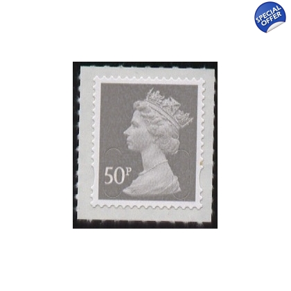 3050 50p grey Machin counter sheet 2009